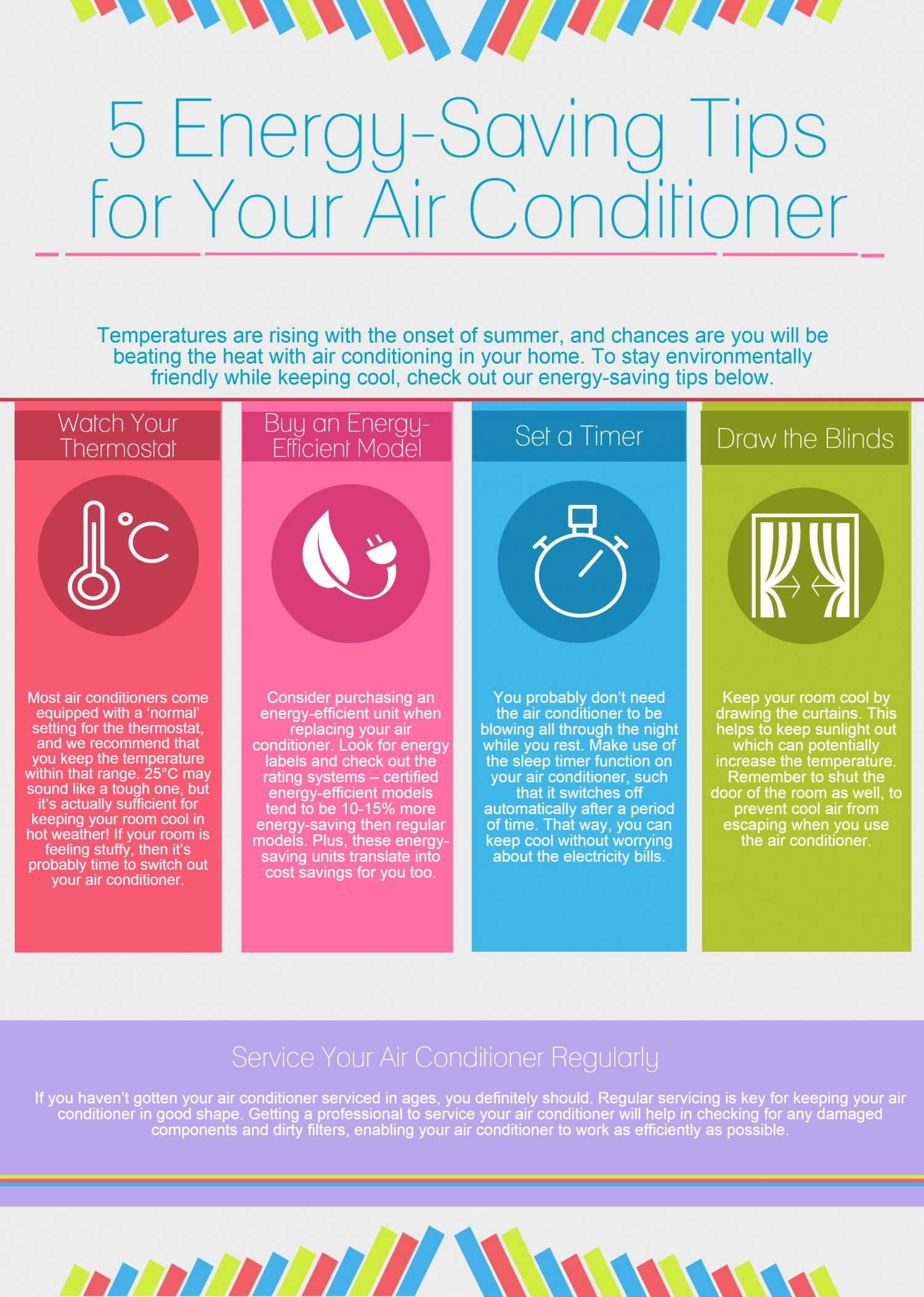 5 Energy-Saving Tips for Your Air Conditioner | Visual ly