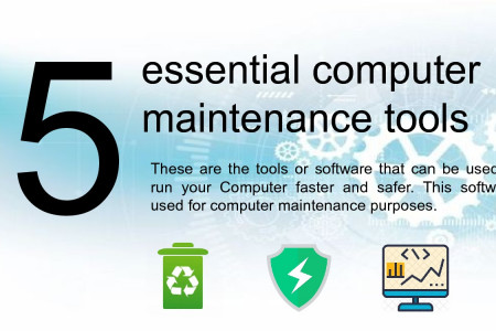 5 essential computer maintenance tools Infographic