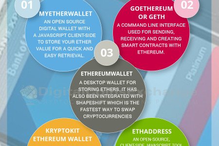 5 Ethereum Wallets Infographic