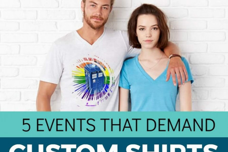 5 Events that demand Custom Shirts Infographic