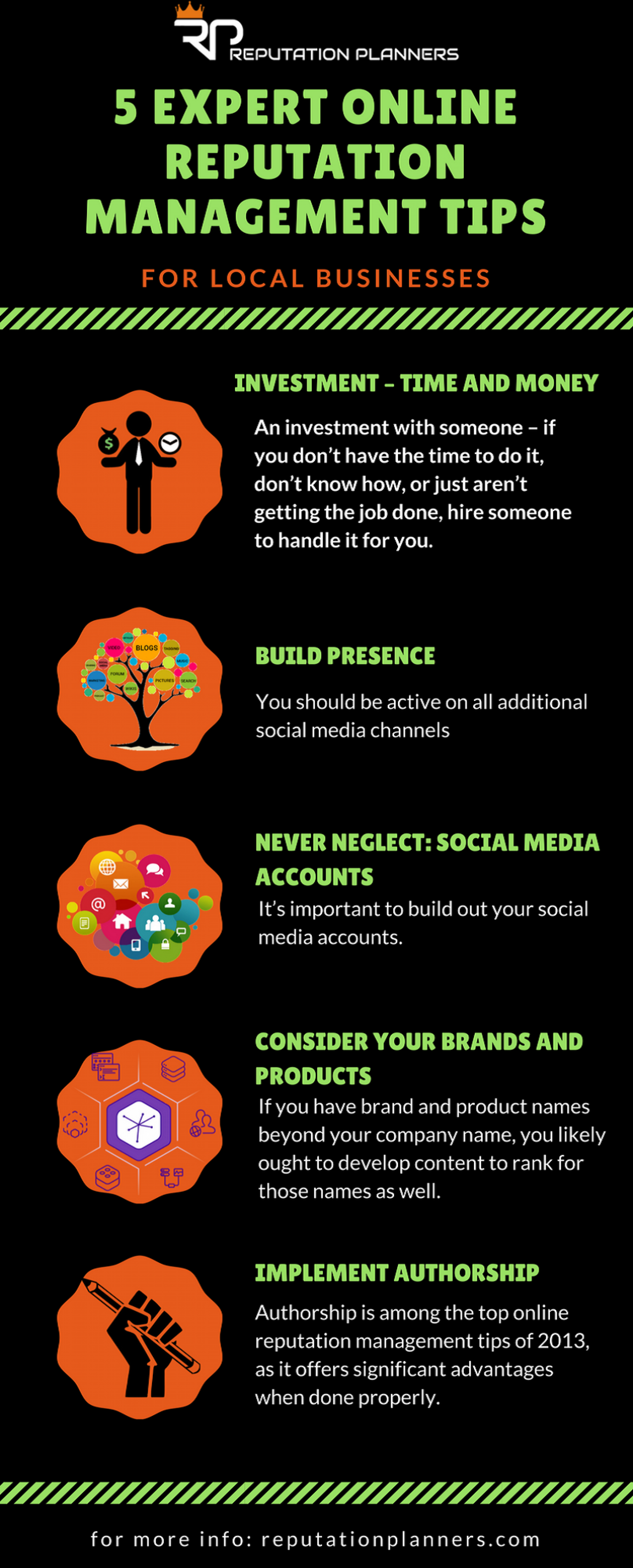 5 Expert Online Reputation Management Tips Infographic