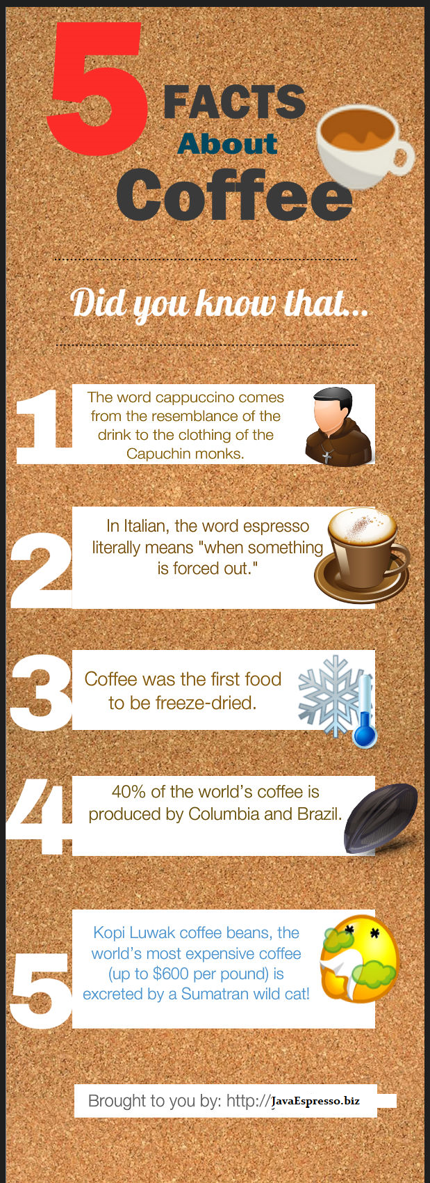 5 Facts About Coffee | Visual.ly
