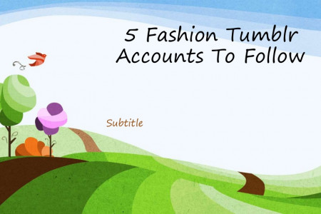 5 fashion tumblr accounts to follow Infographic