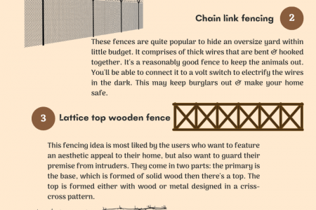 5 Great Fencing Ideas That Go Easy On The Pocket Infographic