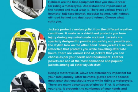 5 Great Gears That Ensure the Safe Motorcycle Riding Infographic