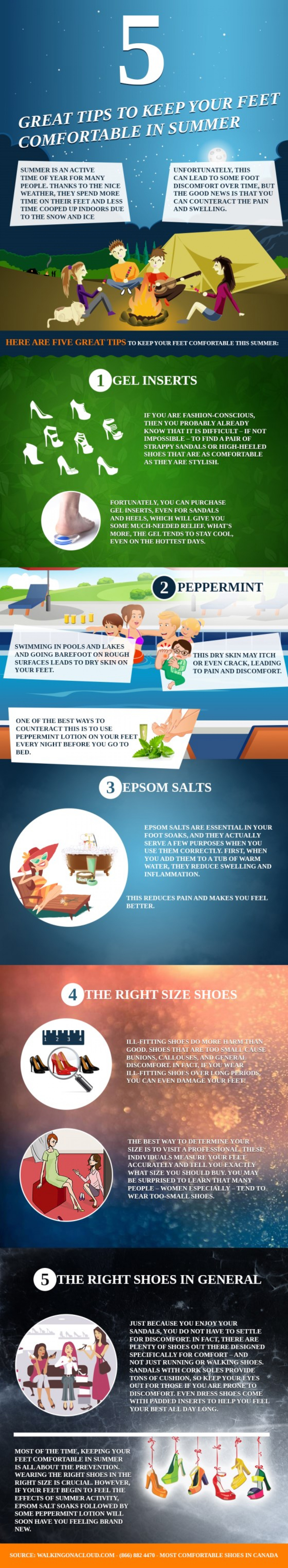 5 Great Tips to Keep Your Feet Comfortable in Summer Infographic