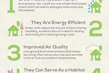 5 Green Roofing Benefits Infographic