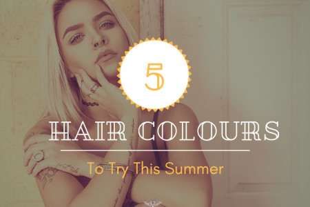 5 Hair Colors to Try This Summer Infographic