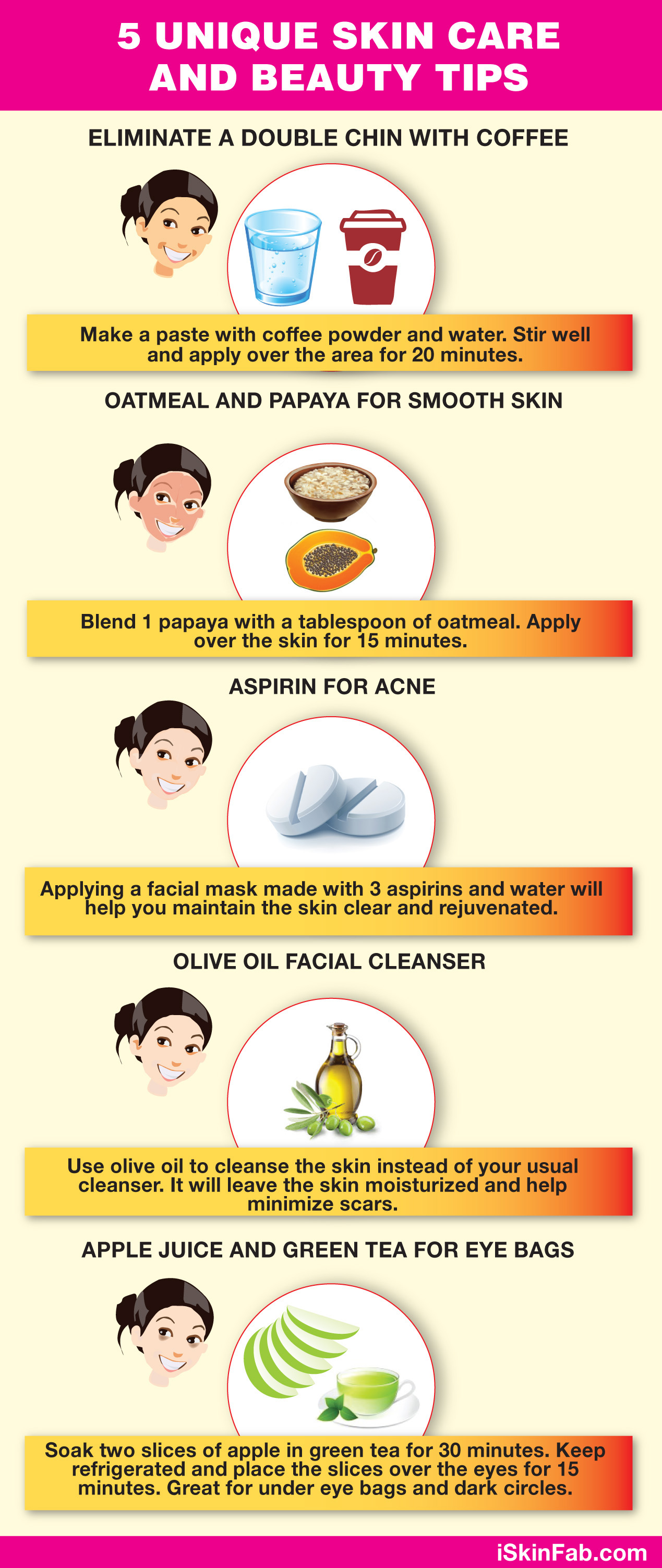 12 Homemade Skin Care and Beauty Tips  Visual.ly