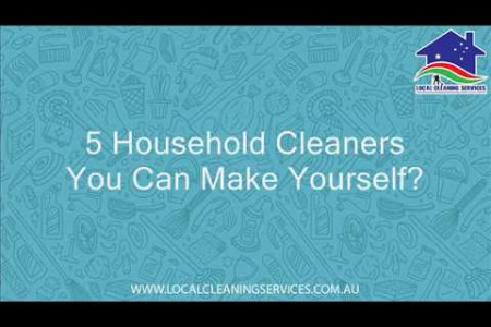 5 Household Cleaners You Can Make Yourself? Infographic