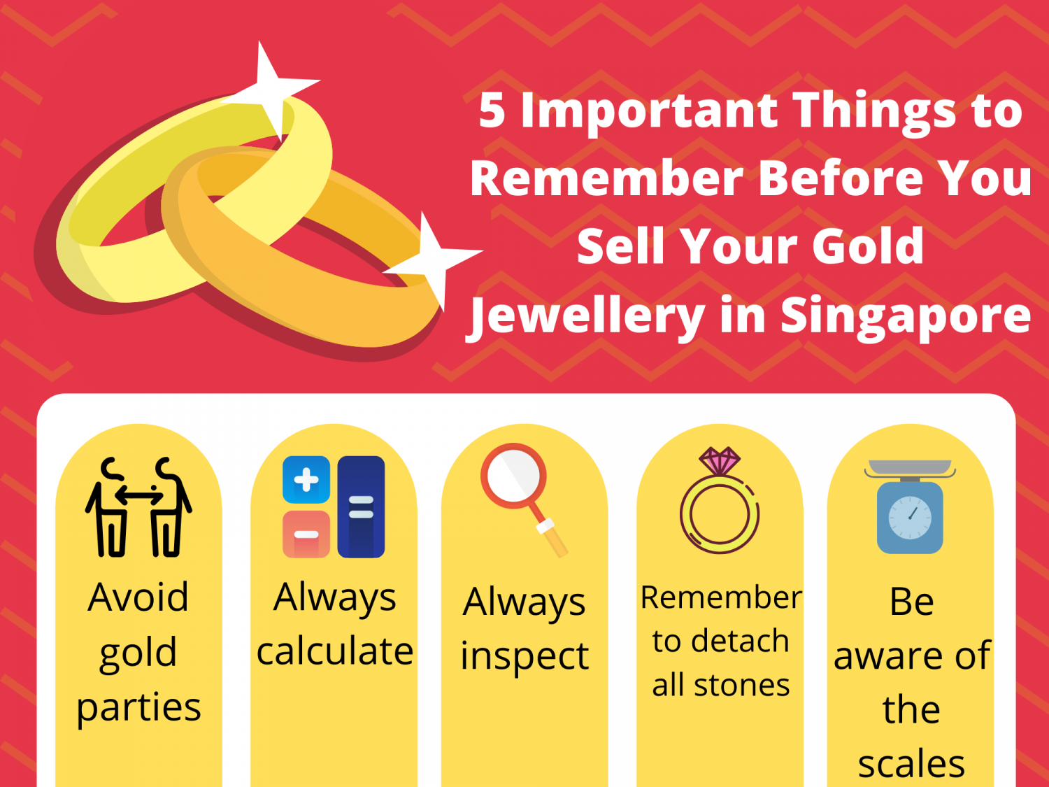 5 Important Things to Remember Before You Sell Your Gold Jewellery in Singapore Infographic