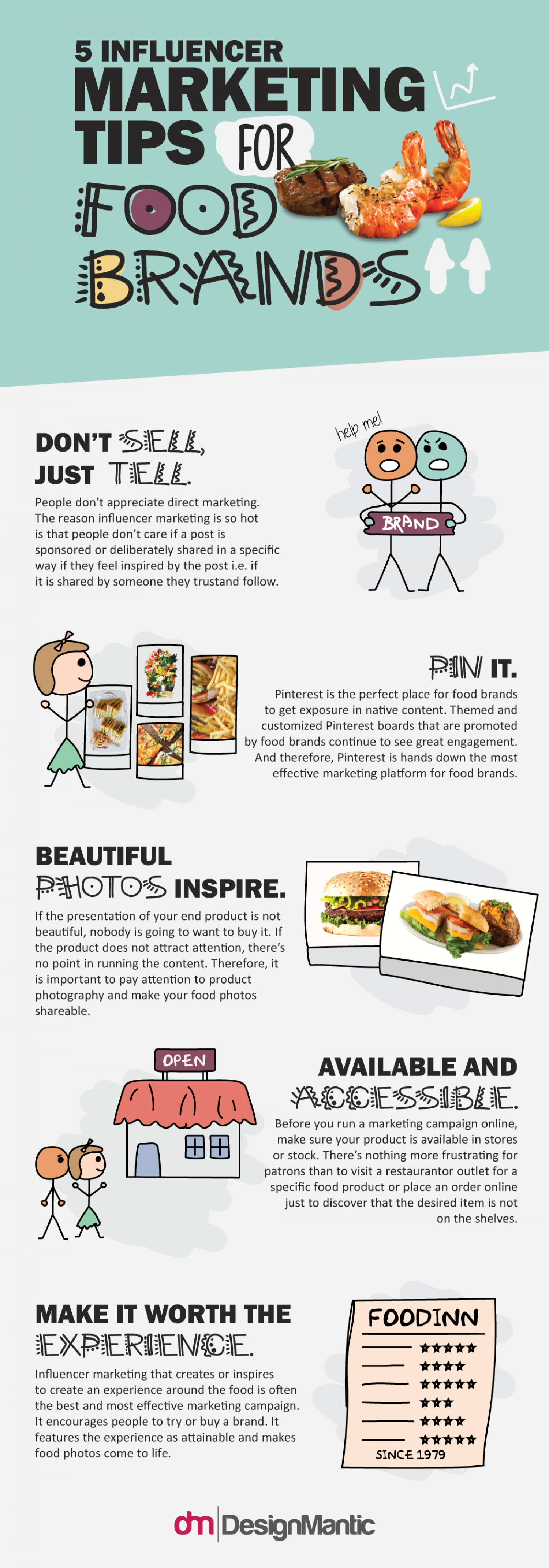 5 Influencer Marketing Tips For Food Brands Infographic