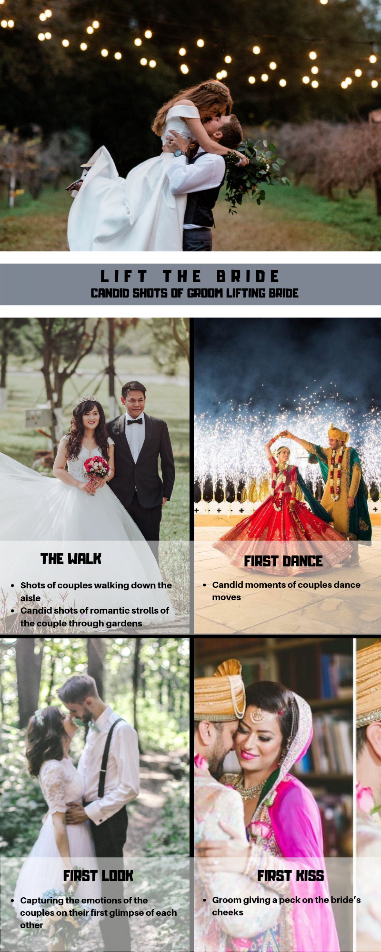 5+ Innovative Wedding Poses For The Couples Infographic