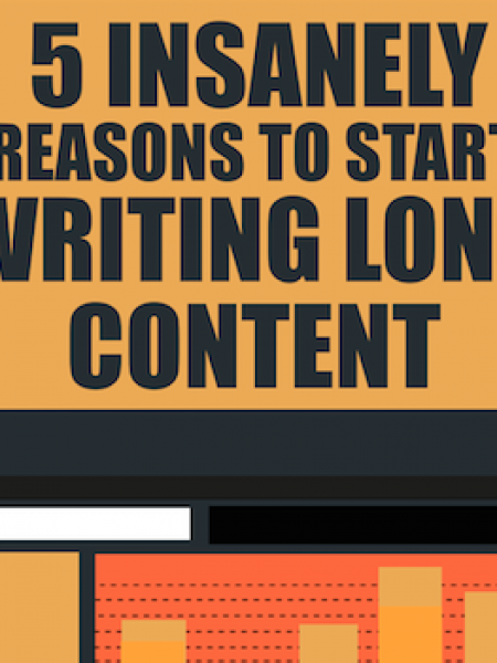 5 Insanely Reasons to Start Writing Long Content Infographic