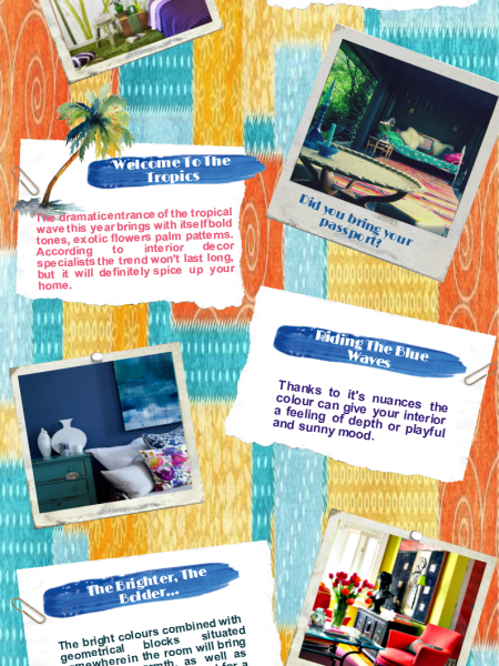 5 Interior Decor Trends For The 2014 Summer Infographic