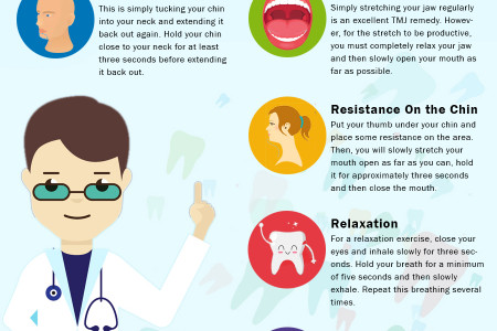 5 Jaw Exercises to relieve TMJ Pain Infographic