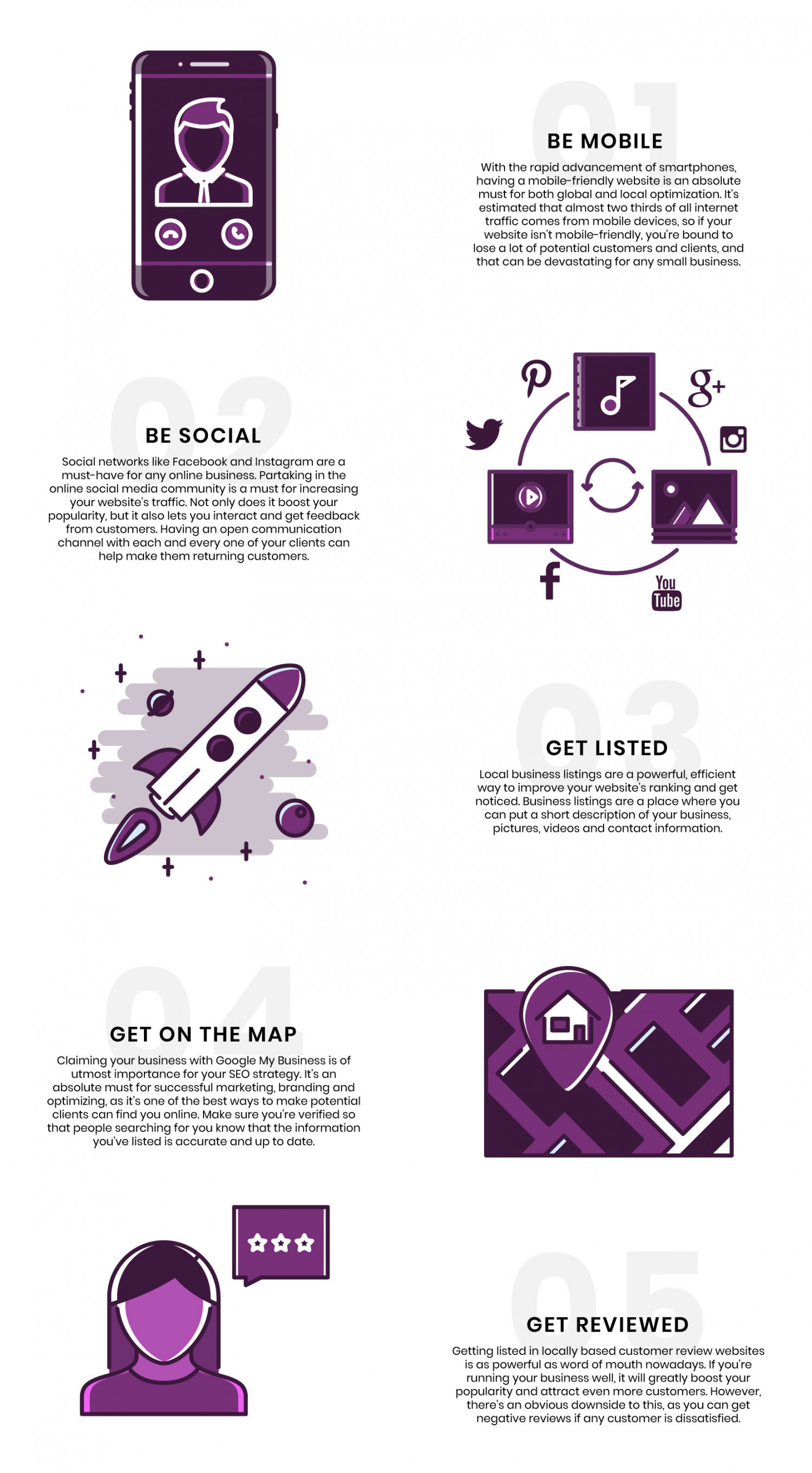 5 Key Tips For a Winning Local SEO Strategy Infographic