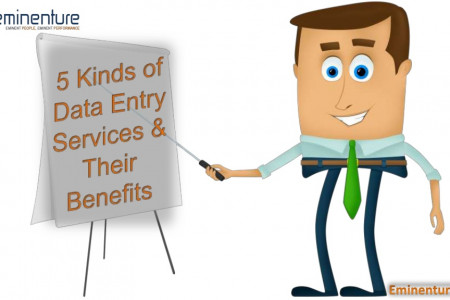 5 Kinds of Data Entry Services & Their Benefits Infographic