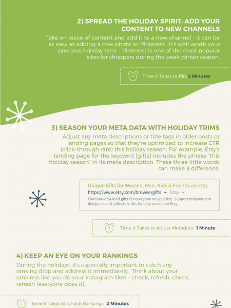 5 Last Minute Holiday Marketing SEO Tips  Infographic