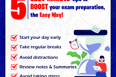 5 Last-minute Tips to Boost Your Exam Preparation, The Easy Way! Infographic