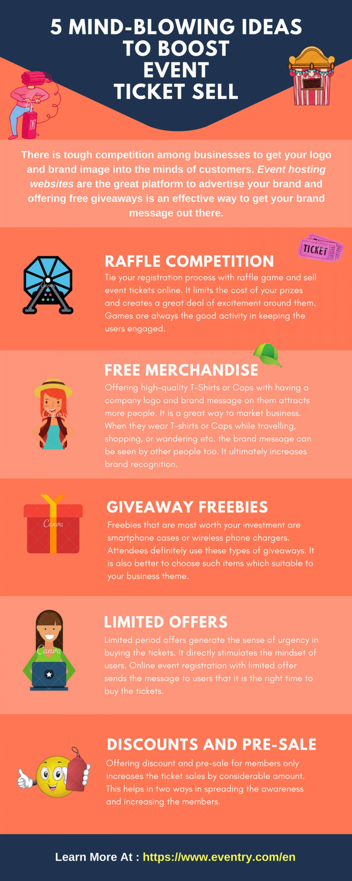 5 Mind-Blowing Ideas To Boost Event Ticket Sell. Infographic