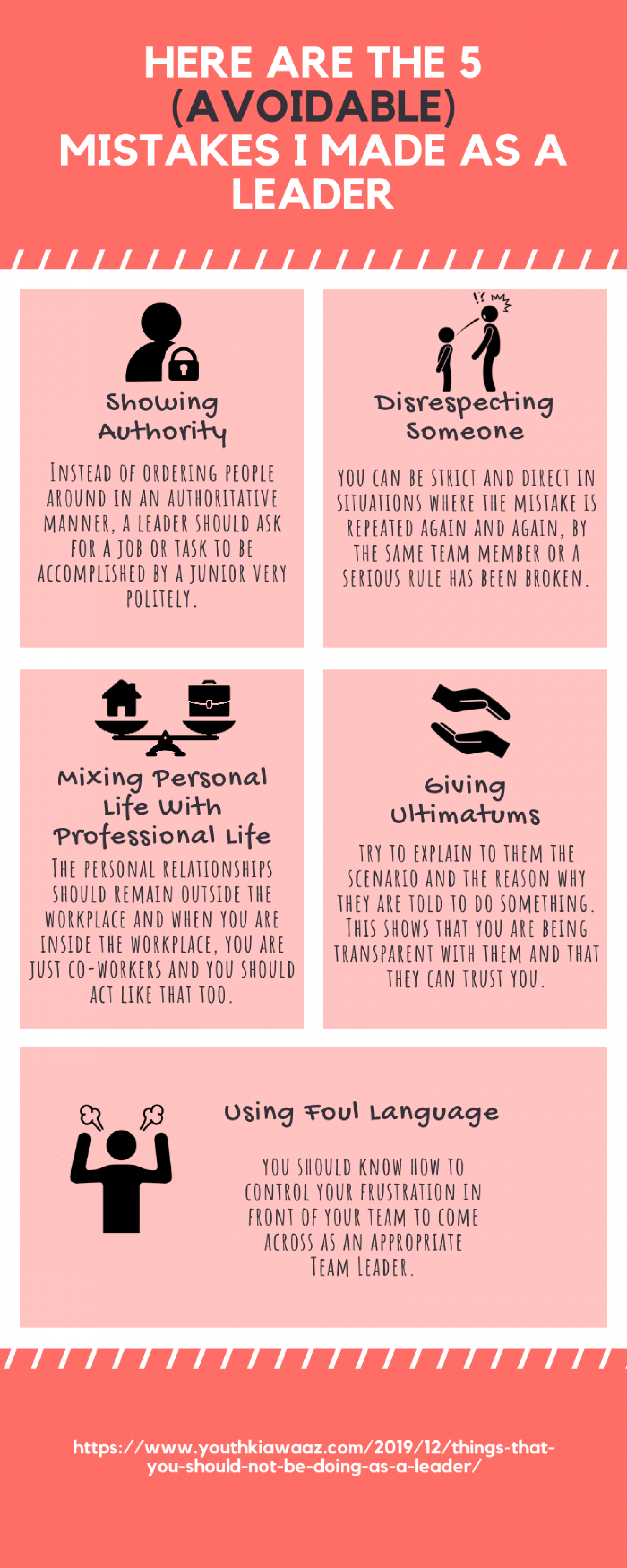 5 Mistakes I Made As A Leader By Kunal Bansal Chandigarh Infographic