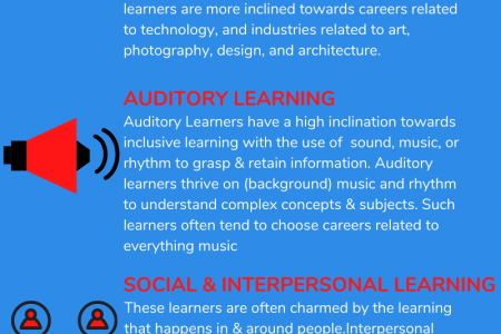 5 Most Common Learning Styles Infographic