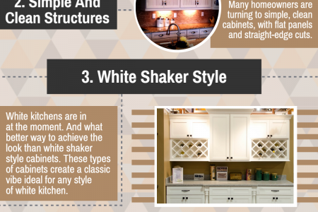 5 Most Popular Kitchen Cabinet Design Trends in 2017 Infographic