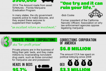 5 Most Powerful Anti-Marijuana Lobby Groups Infographic