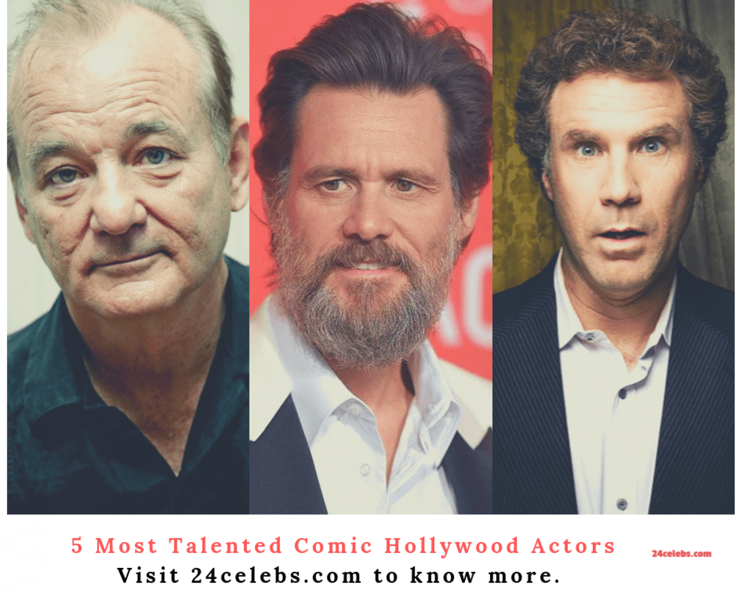 5 Most Talented Comic Hollywood Actors Infographic