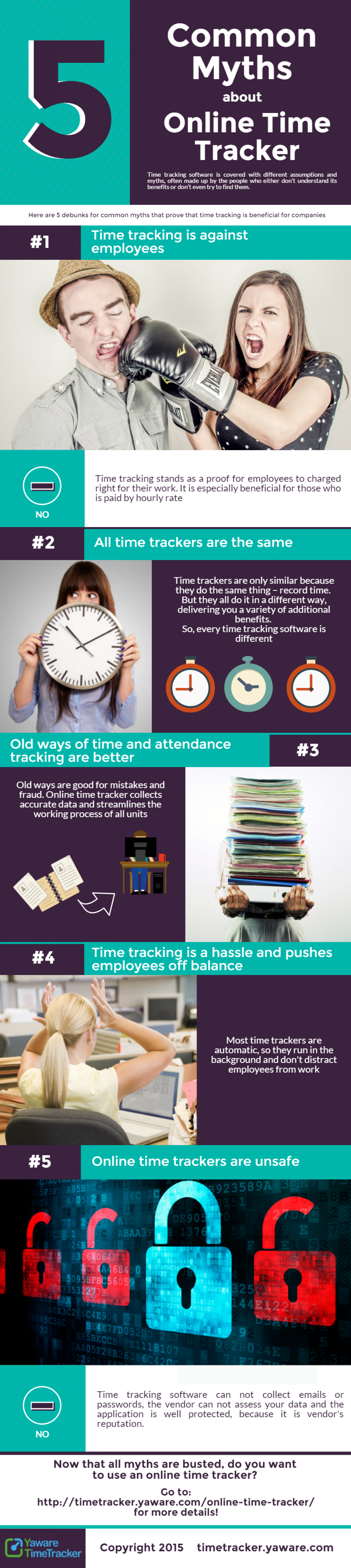 5 Myths about Online Time Tracker Infographic