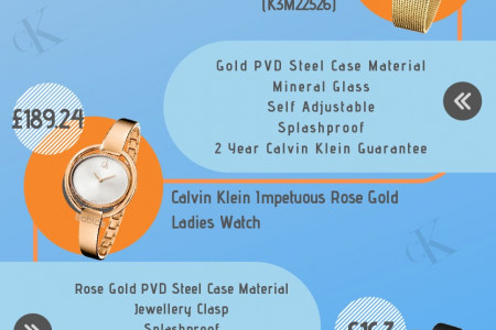 5 of the Best Calvin Klein Female Wristwatches Infographic