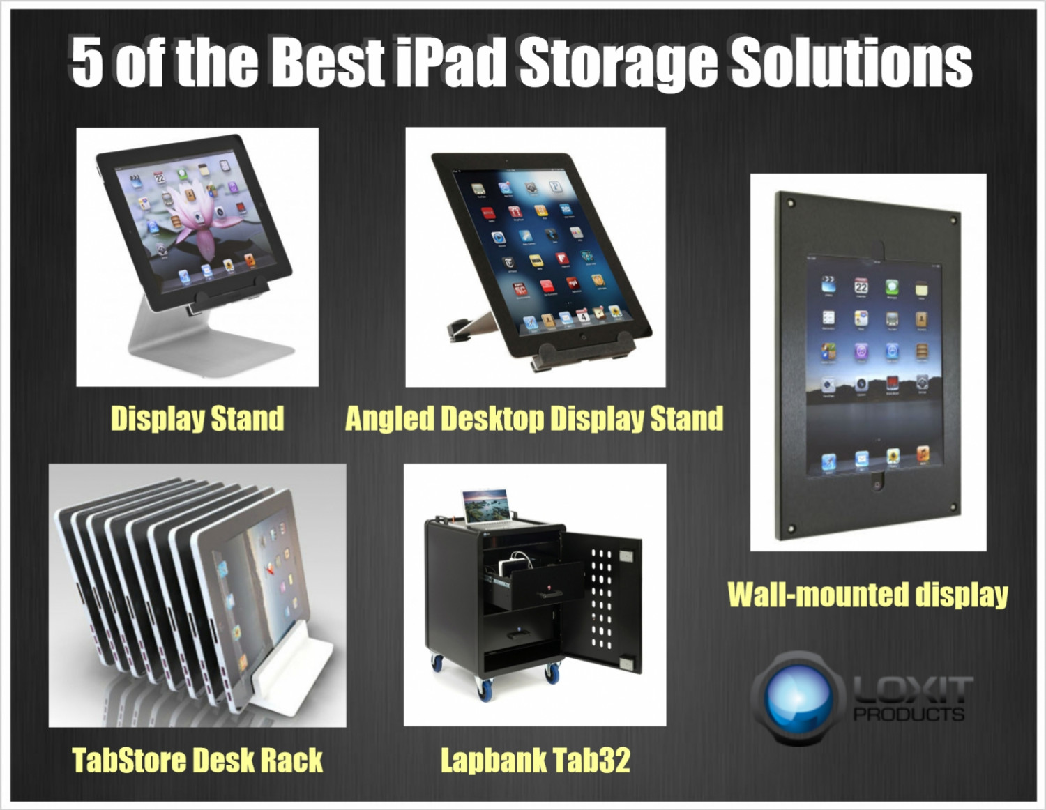 5 of the Best iPad Storage Solutions Infographic