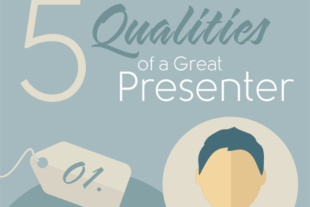 5 Qualities of a Great Presenter Infographic