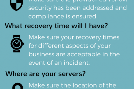 5 Questions to ask DRaaS Providers Infographic
