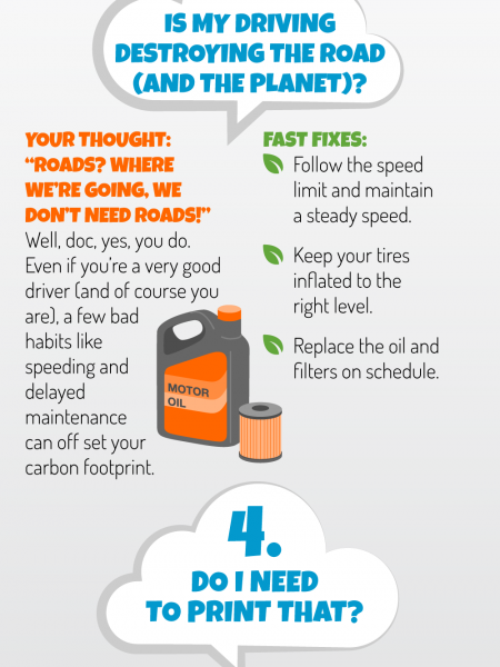 5 Questions to ask yourself to reduce your carbon footprint. Infographic