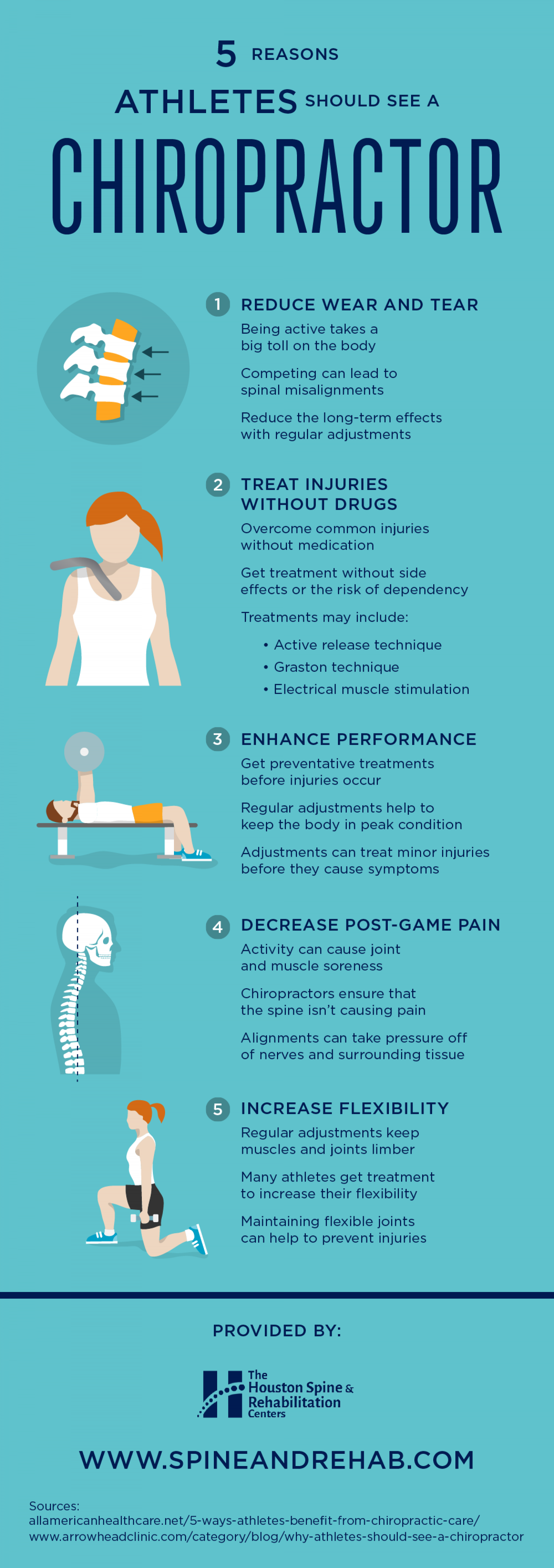 5 Reasons Athletes Should See a Chiropractor Infographic