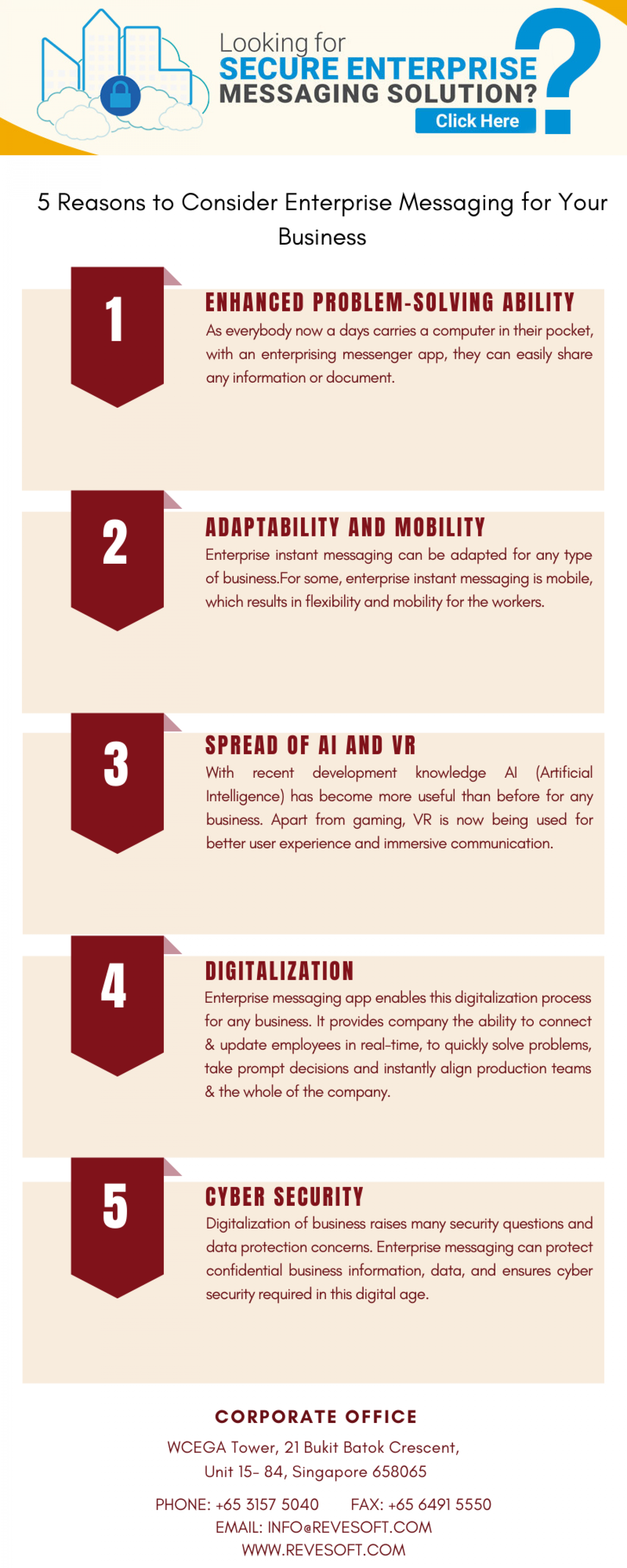 5 Reasons to Consider Enterprise Messaging for Your Business Infographic