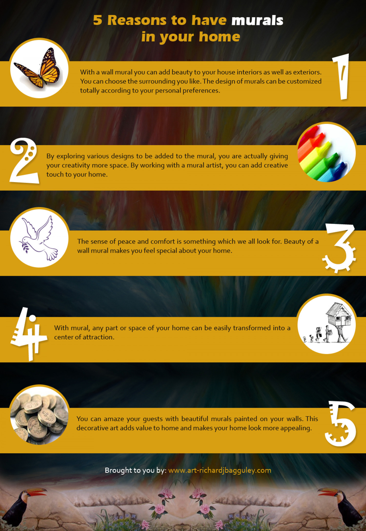 5 Reasons to Have Murals in Your Home Infographic