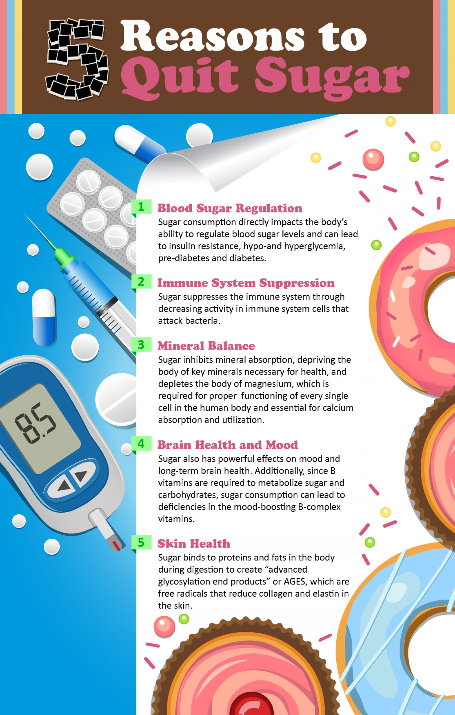 5 reasons to quit sugar Infographic
