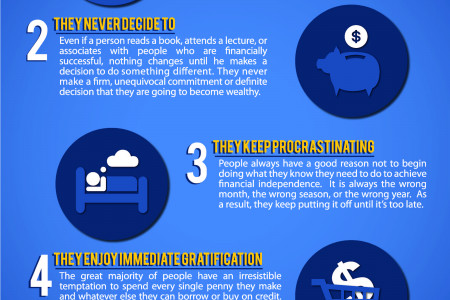 5 Reasons Why Most Don't Become Wealthy  Infographic