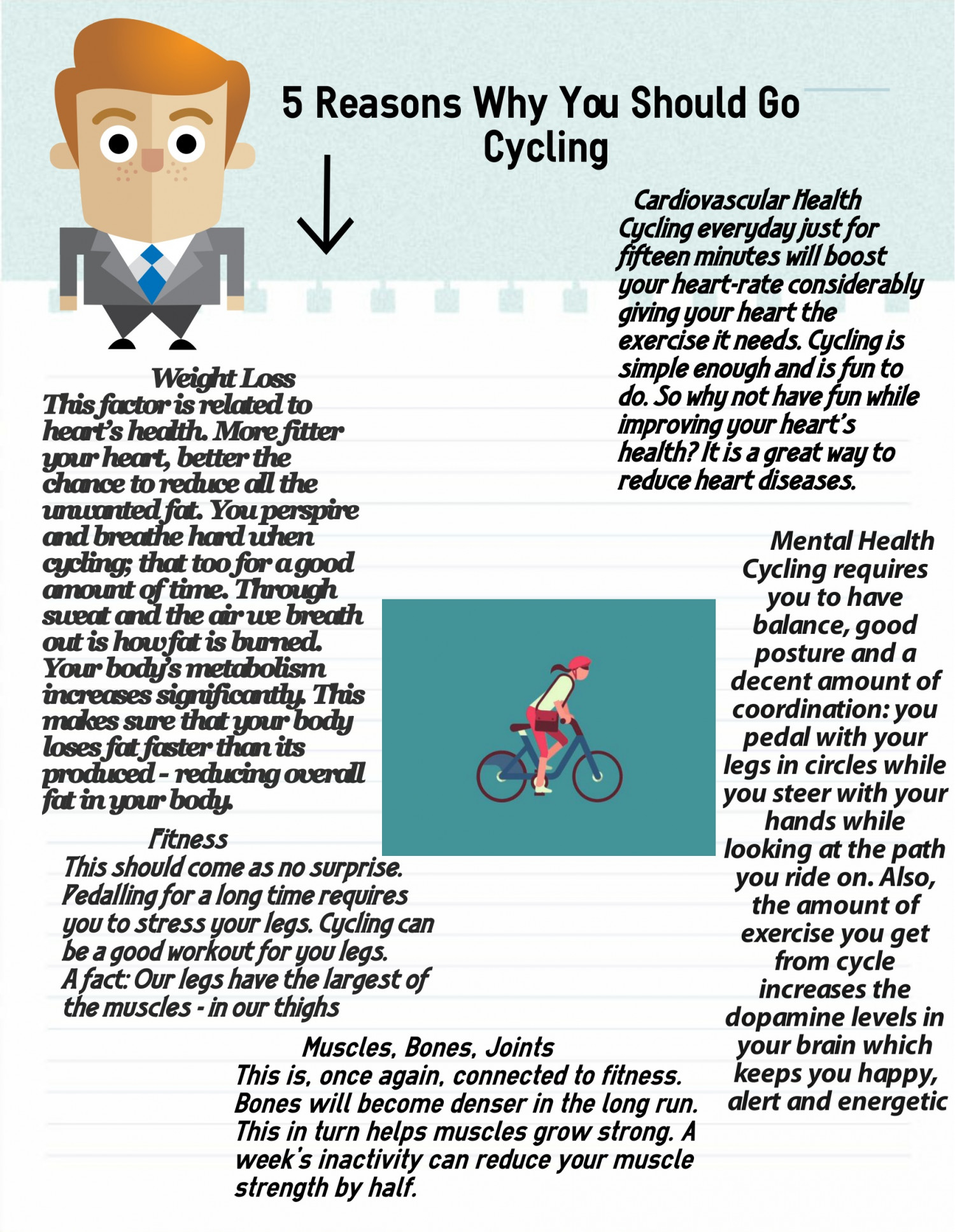 5 Reasons Why You Should Go Cycling Infographic