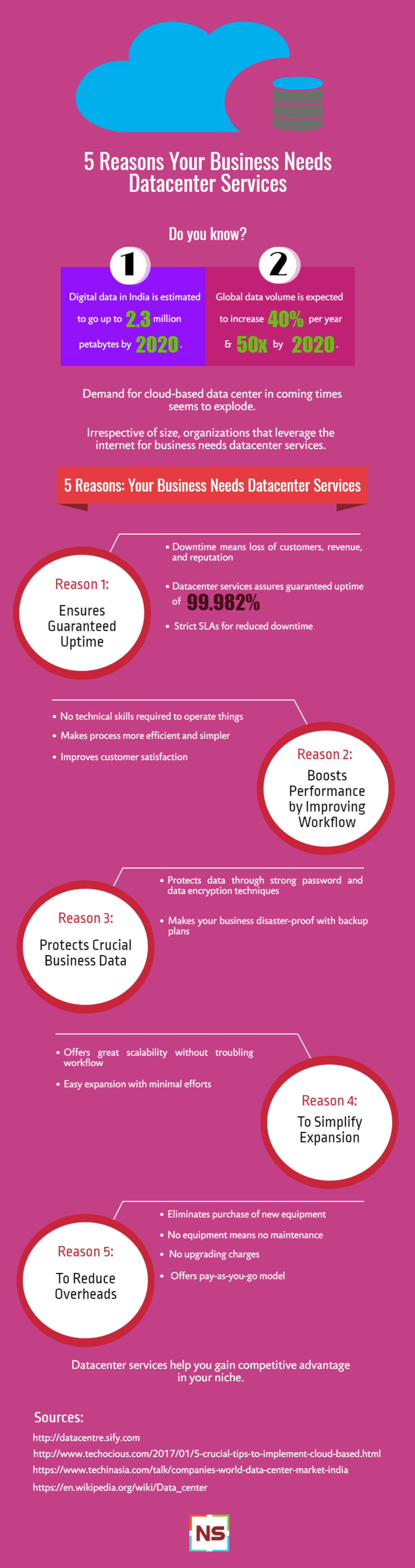 5 Reasons Your Business Needs Datacenter Services  Infographic