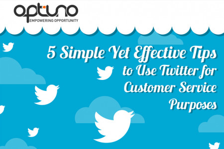5 Simple Yet Effective Tips to Use Twitter for Customer Service Purposes Infographic