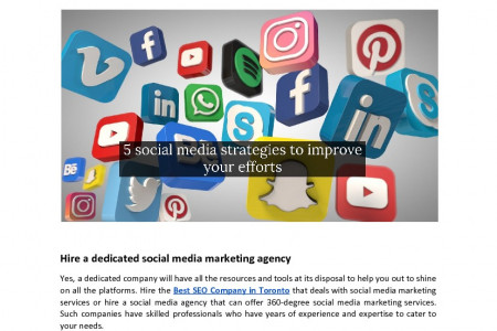 5 social media strategies to improve your efforts Infographic