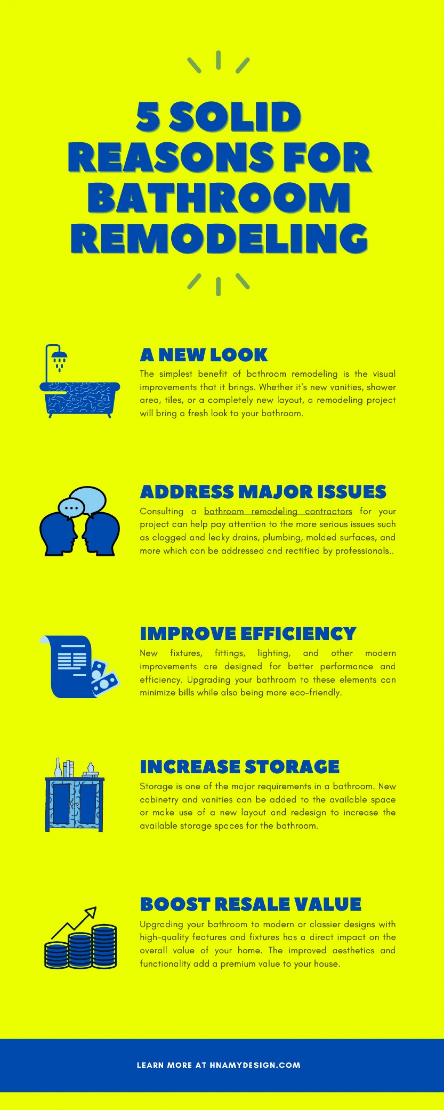 5 Solid Reasons for Bathroom Remodeling Infographic