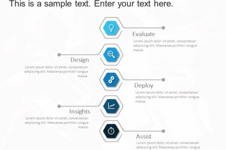 5 Steps Hexagon PowerPoint Template 1 Infographic