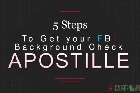 5 Steps To Get your FBI Background Check Apostille For Use in Korea Infographic