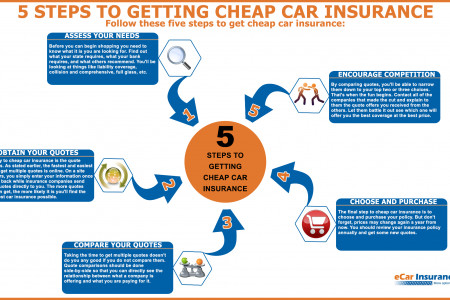 5 Steps to Getting Cheap Car Insurance  Infographic