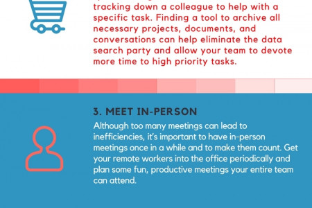 5 steps to make your marketing team more efficient Infographic